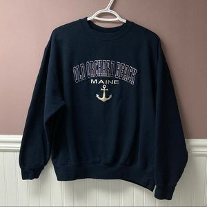 Tops - Maine Old Orchard Beach navy blue unisex hoodie